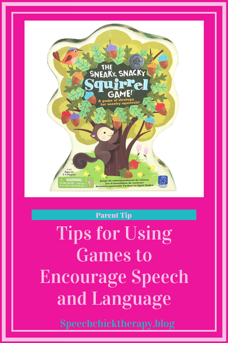 Tips for Using Games to Encourage Speech and Language Blog