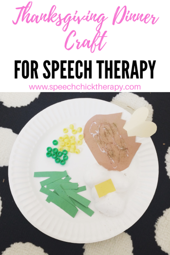 Thanksgiving Craft for Speech Therapy