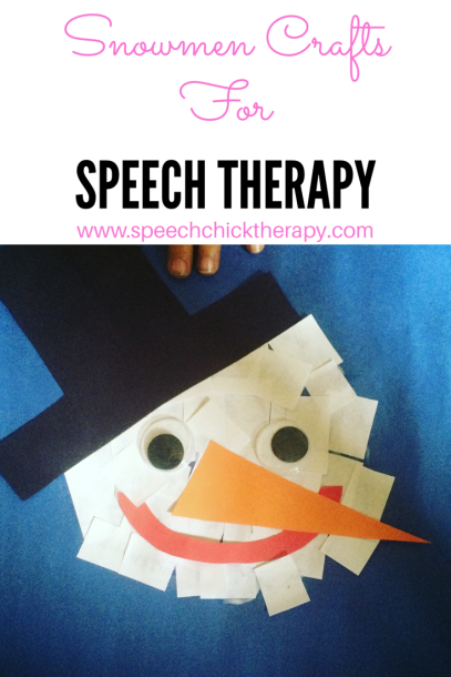 Snowmen Crafts for Speech Therapy