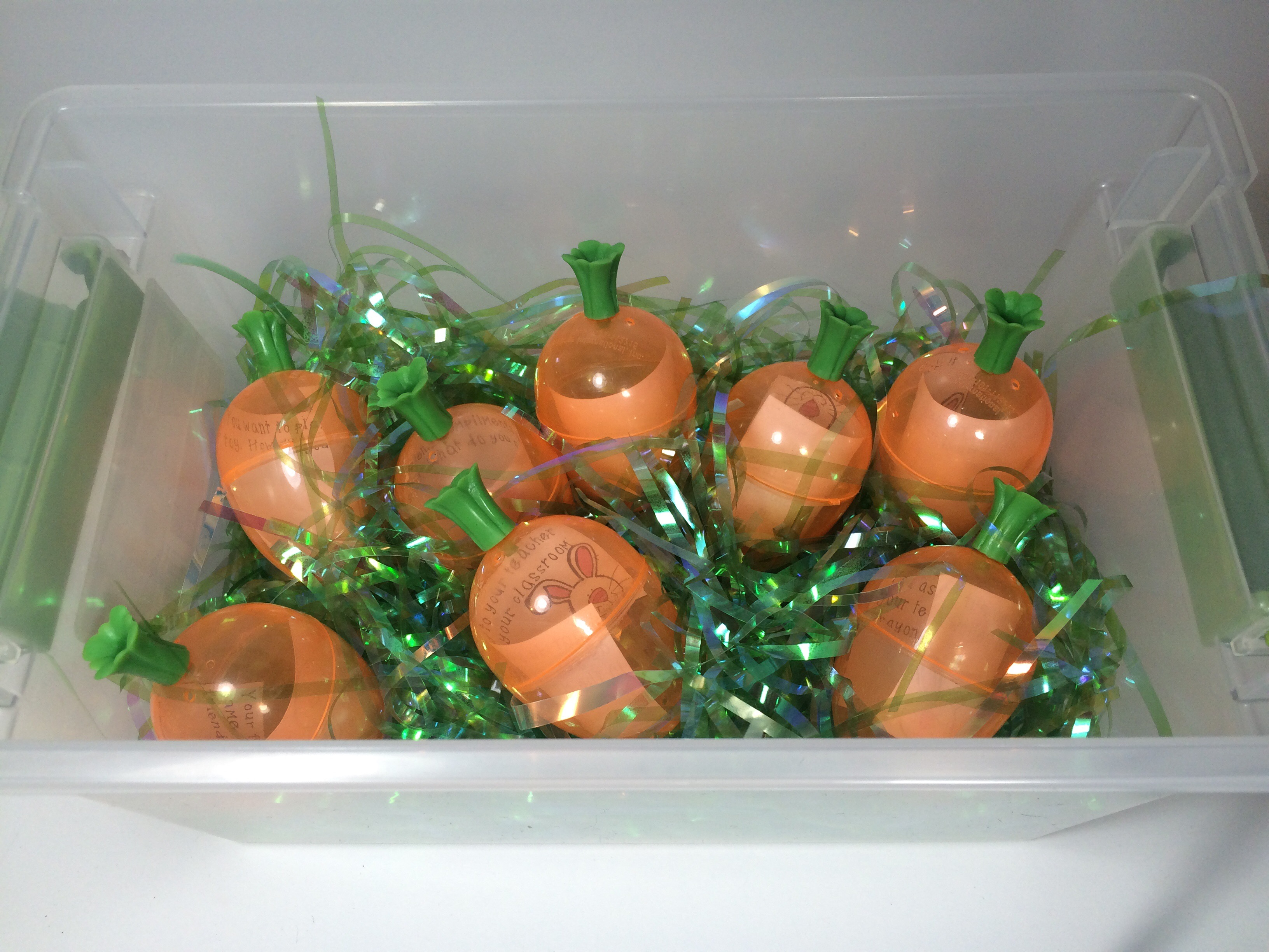 Easter Sensory Bin for Speech Therapy