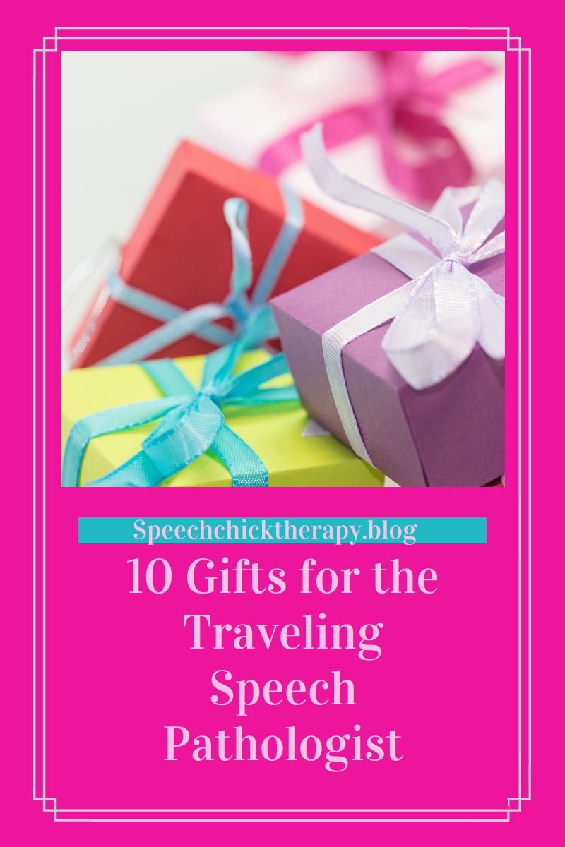 10 of the best gift ideas for the traveling speech pathologist