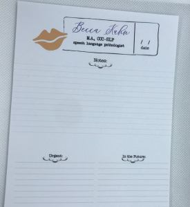 SLPs are suckers for cute notepads