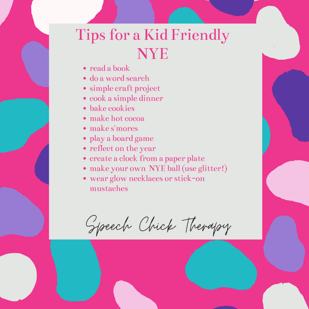 Tips for a Kid Friendly New Year's Eve
